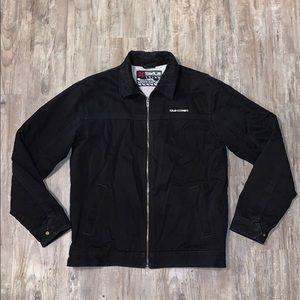 Men's Quicksilver black fleece denim jacket Medium